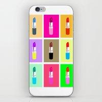lipstick iPhone & iPod Skins featuring Lipstick by Scout Garbaczewski