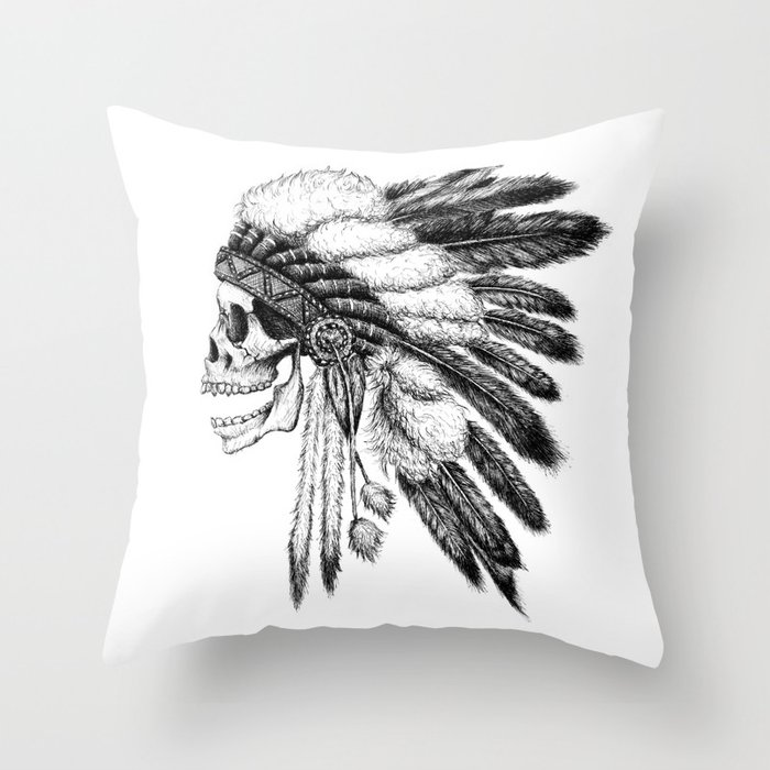 Throw Pillows Next : Native American Throw Pillow by motohironezu Society6