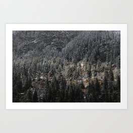 Powdered Mountain Art Print