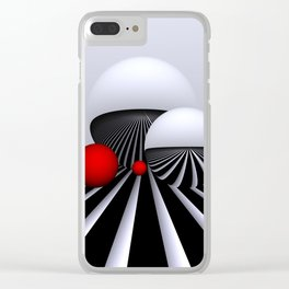 go red -2- Clear iPhone Case