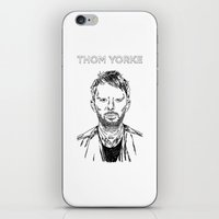 radiohead iPhone & iPod Skins featuring Thom Yorke Radiohead by Mark McKenny