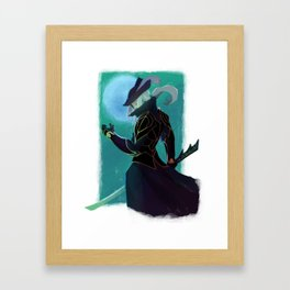 A Pale Moon Knight Framed Art Print