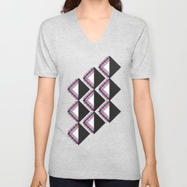 Mola Stripe Triangle Unisex V-Neck
