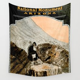 Vintage Petrified Forest National Park Illustrative Poster (1919) Wall Tapestry