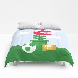 Pirahna Plant - Super Mario World Comforters