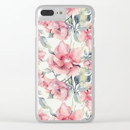 Autumn Peonies Clear iPhone Case