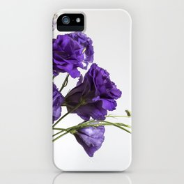 Purple Lisanthus Flowers #1 iPhone Case