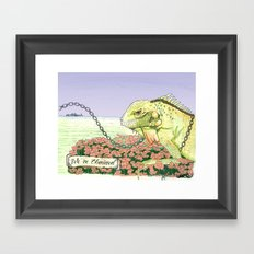 We're Chained Framed Art Print