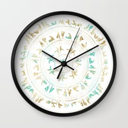 Kama Sutra Mandala Blue and Gold Wall Clock