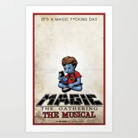 magic the gathering Art Prints featuring Magic The Gathering The Musical by Molly Coffee