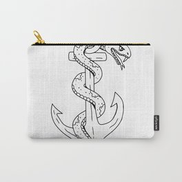 Rattlesnake Coiling on Anchor Drawing Carry-All Pouch
