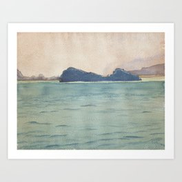 Giovanni Giacometti 1868 - 1933 Silsersee WITH PENINSULA Chaste Art Print