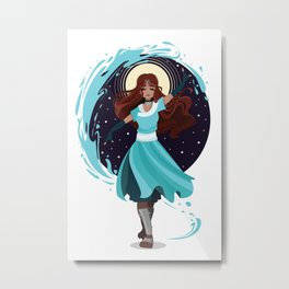 The Waterbender Metal Print