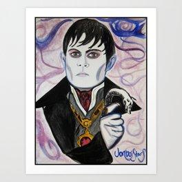 Barnabas Collins - Johnny Depp Art Print