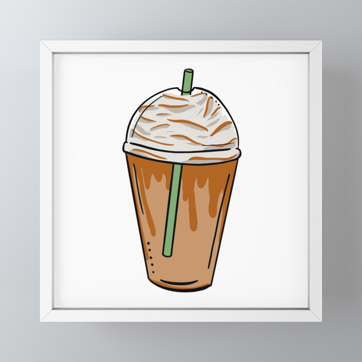 Caramel Frappe Pop Art Framed Mini Art Print By Shelbiefran Society6