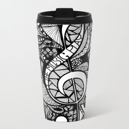 Let the music play! Metal Travel Mug