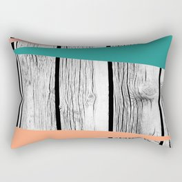 Colored arrows on wood Rectangular Pillow