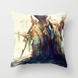 Creepy Crepe Throw Pillow