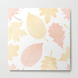 tree leaves 6 77 Autumn colors Metal Print