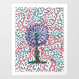 Hot air to cool Art Print