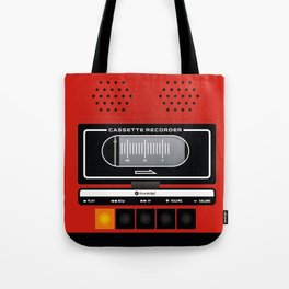 red recorder Tote Bag