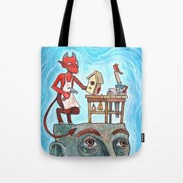 An Idle Mind Is The Devil's Workshop Tote Bag