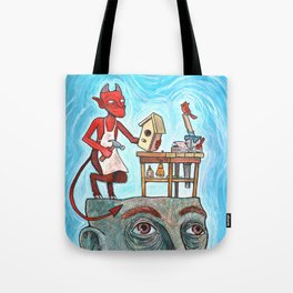 An Idle Mind Is The Devil's Workshop Tote Bag
