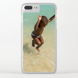 Because i'm happy Clear iPhone Case