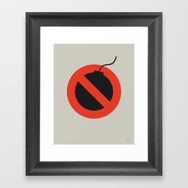 No Bombing Allowed Framed Art Print