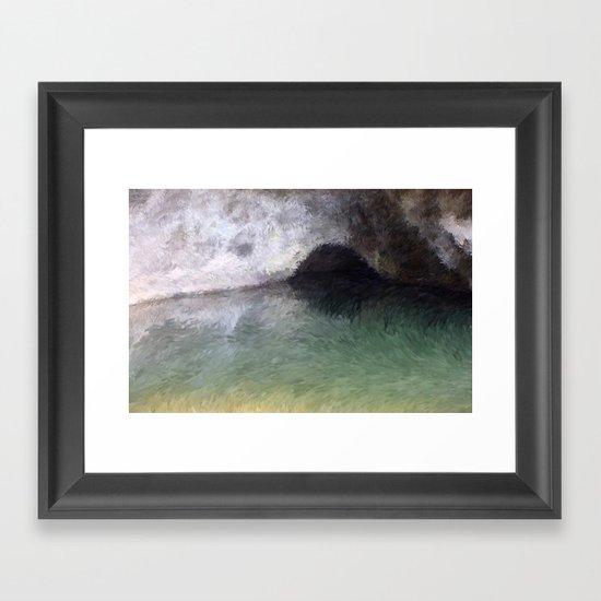 Kaua'i Cave Framed Art Print