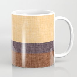 Simple Stripe Abstract with Burlap Pattern Coffee Mug