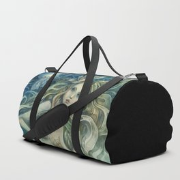 mermaid with Flowers in her hair Duffle Bag