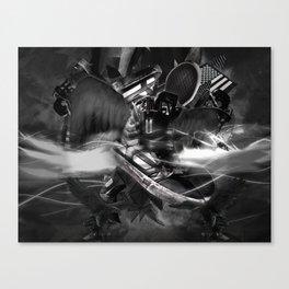 xsupermodels - Black Flag Skytop II - Midnight Stars And Stripes Canvas Print