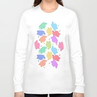 mew Long Sleeve T-shirts featuring Mew-Boo by Lixxie Berry Illustration