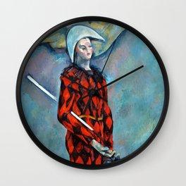 Paul Cezanne Harlequin Wall Clock