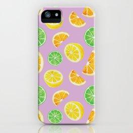 Citrus Pattern iPhone Case