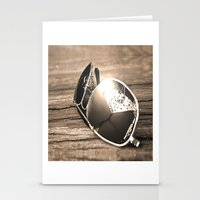 sunglasses Stationery Cards featuring Sunglasses by Cs025