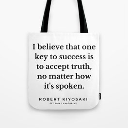 11  |  Robert Kiyosaki Quotes | 190824 Tote Bag