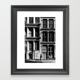 New York City, Soho Series, Black & White 3 Framed Art Print