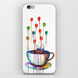 Coffee Splash iPhone Skin