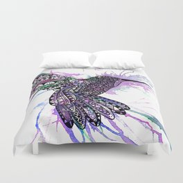 Humming Bird Colour Splash Duvet Cover