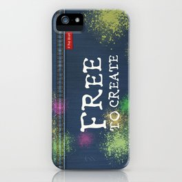 Denim Jeans - Free To Create iPhone Case