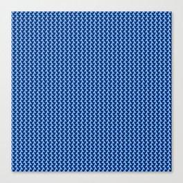 wavey blue Canvas Print