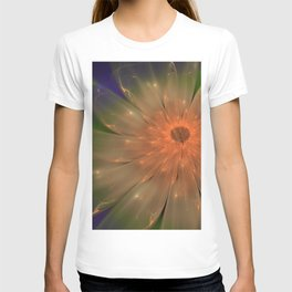 Abstract Flame Flower T-shirt