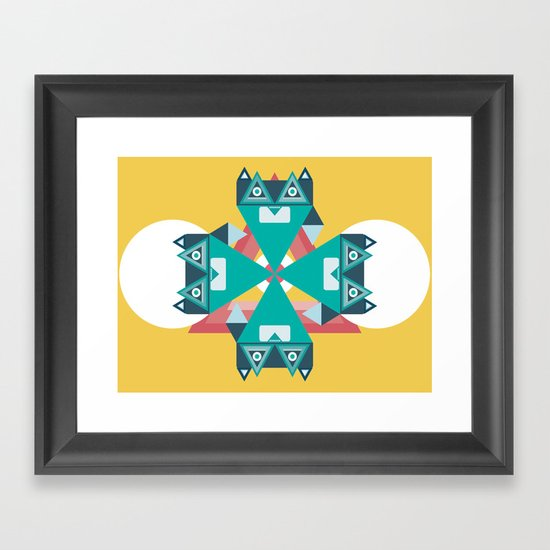 Biconic repetition Framed Art Print