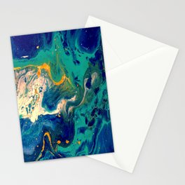 blue and gold Stationery Cards