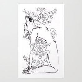 wolf babe Art Print