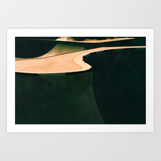Concrete & Curves Art Print