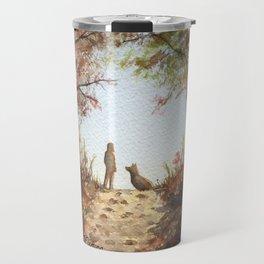 A Walk in the Autumn Woods Travel Mug