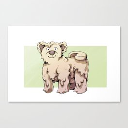 Camembear Canvas Print